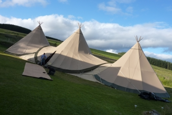 Tipis at The Bunkhouse